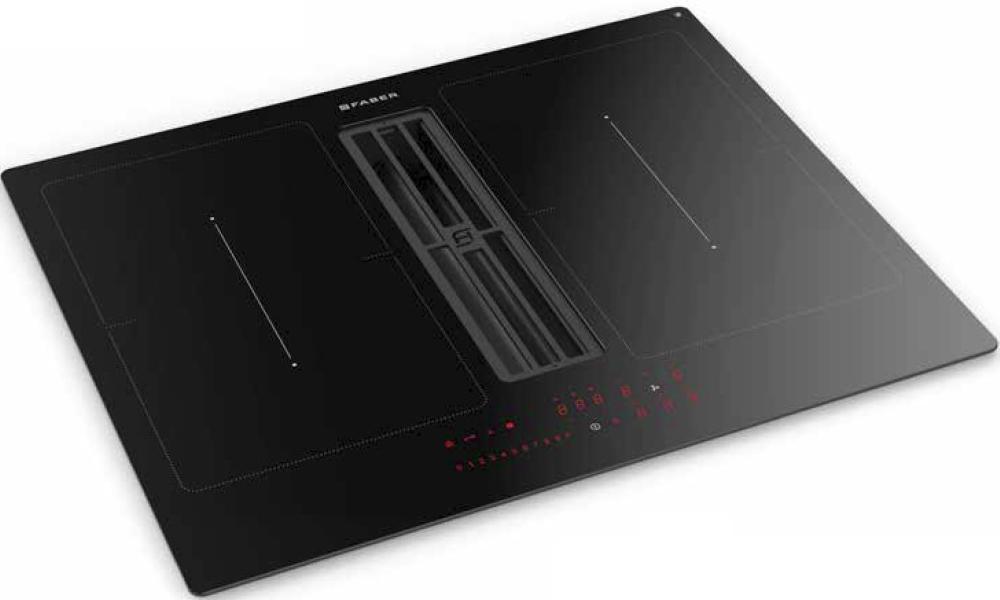 Электрическая варочная панель со встроенной вытяжкой